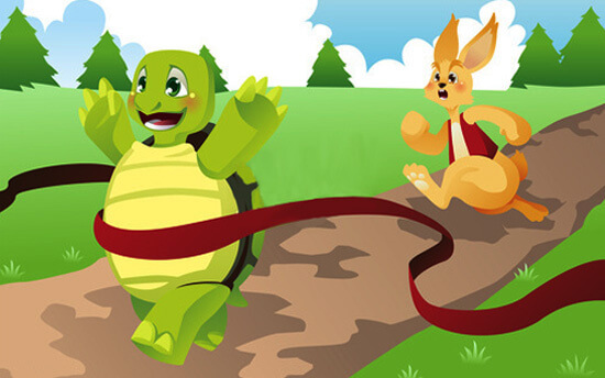 The tortoise and the hare story