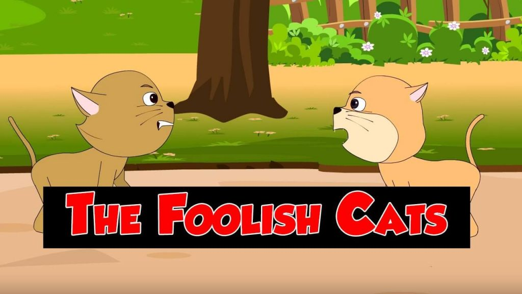 two foolish cats and a clever monkey