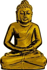 Golden Statue of Gautam Buddha
