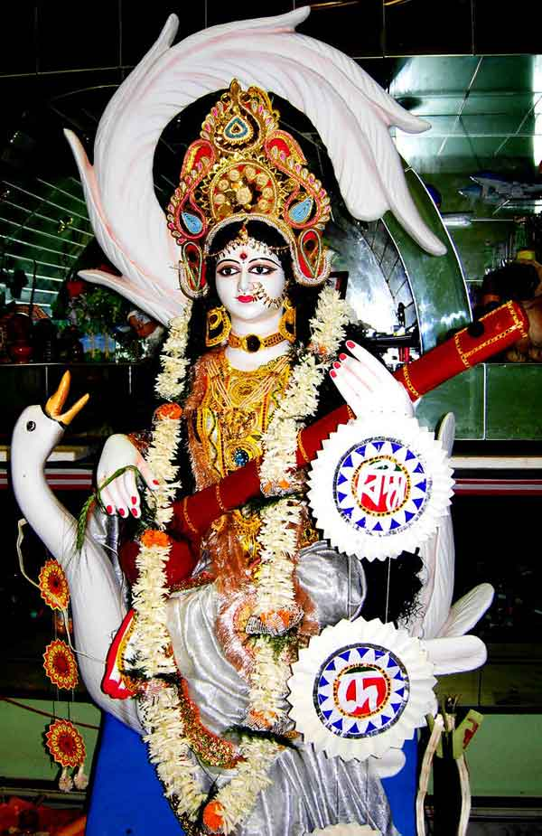 Saraswati Puja Murti Photo