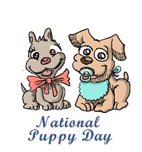 NATIONAL PUPPY DAY CLIPART