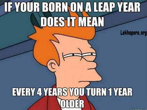 Birthday Funny Image on Leap Year