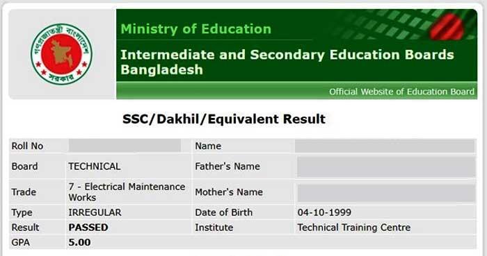 SSC Result Online