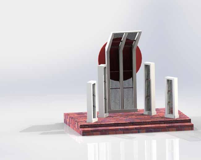 Shahid Minar 3D Art