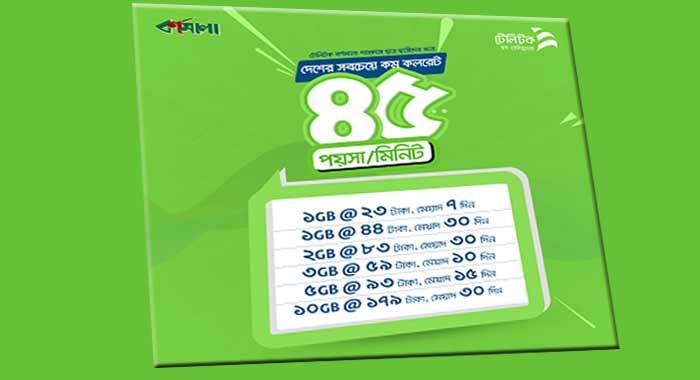 Teletalk Bornomala Internet Packages